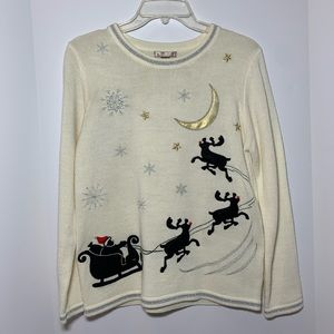White Stag ugly Christmas sweater size S
